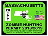 Massachusetts Zombie Hunting Permit (Bumper Sticker)