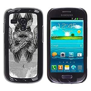 Ihec Tech Ailes d'oiseau Signification peinture profonde / Coque Etui Coque étui de portefeuille protection Coque Case Cas / for Samsung Galaxy S3 MINI 8190