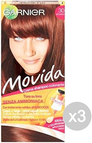 Juego 3 Movida 30 Caoba tinta y color para cabello: Amazon.es ...