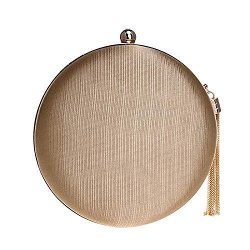 Insisterar alltid på framgång lyxig mocka aftonväska damer plånbok fest handväska bröllop nattklubb (färg: brun) (färg: A6) A1
