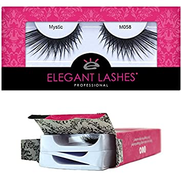 0790fdc800e Amazon.com : Elegant Lashes M058 Mystic (Triple Pack - 3 Pairs) | Premium  Professional-Quality Cruelty-Free Faux Mink False Eyelashes : Beauty
