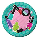 Club Pack of 96 Sparkle Spa Party Paper Lunch Plates 7''