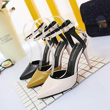amp; US7 Buckle UK5 5 Club Pump Summer OL Comfort Dress Suede Style 5 Women'sHeels Spring EU38 Career Match FYios CN38 Heel Office All Chunky Gladiator Shoes CgF6qRnHw