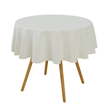 Deconovo Nappe Ronde Couleur Creme 140cm Decoration Table Basse de ...