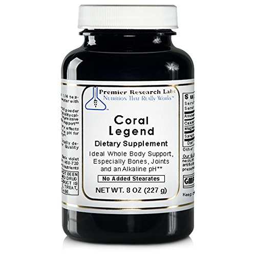 Coral Legend, 8oz Powder - 100% Coral Mineral Powder; Ideal Whole Body Support, Especially for the Bones, Joints, Teeth and an Alkaline pH