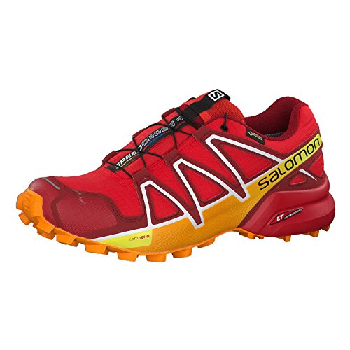 Salomon Herren Speedcross 4 GTX Traillaufschuhe, Blau, XXL rot (Fiery Red/Red Dalhia/Bright Marigol 000)