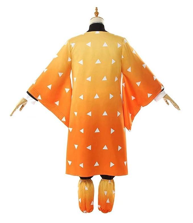 Amazon.com: Demon Slayer Costume Agatsuma Zenitsu Kimono ...