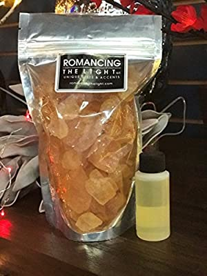 Romancing The Light Himalayan Organic Salt Crystal Potpourri Sandalwood- Vanilla, 1lb with Refresher Oil
