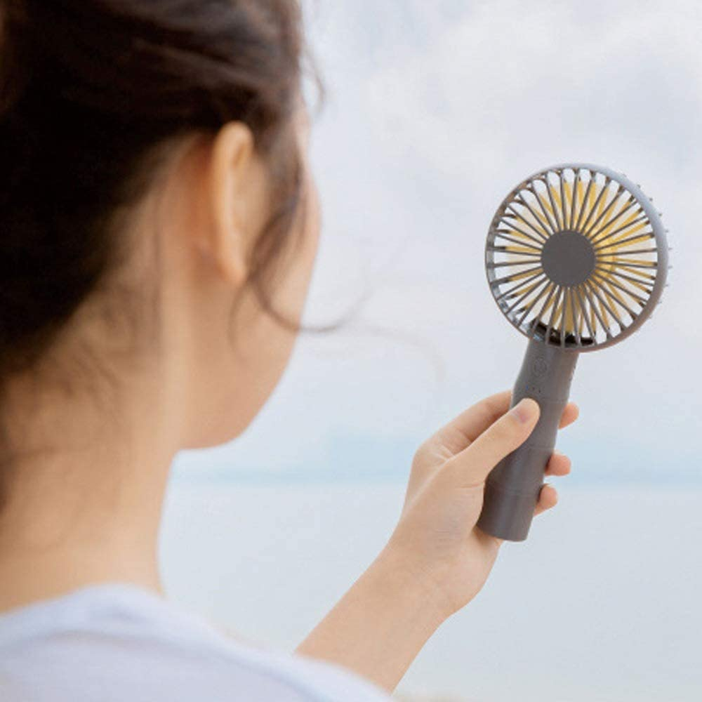 Color : Gray, Size : One Size Portable Rechargerble Personal Travel Zxcvlina Portable Personal USB Fan Handheld Fan with 3 Speeds Mini USB Charging