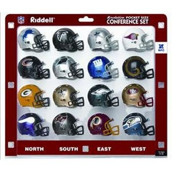 Nfl Revolution Pocket - Riddell NFL Revolution Pocket Pro NFC Conference Set