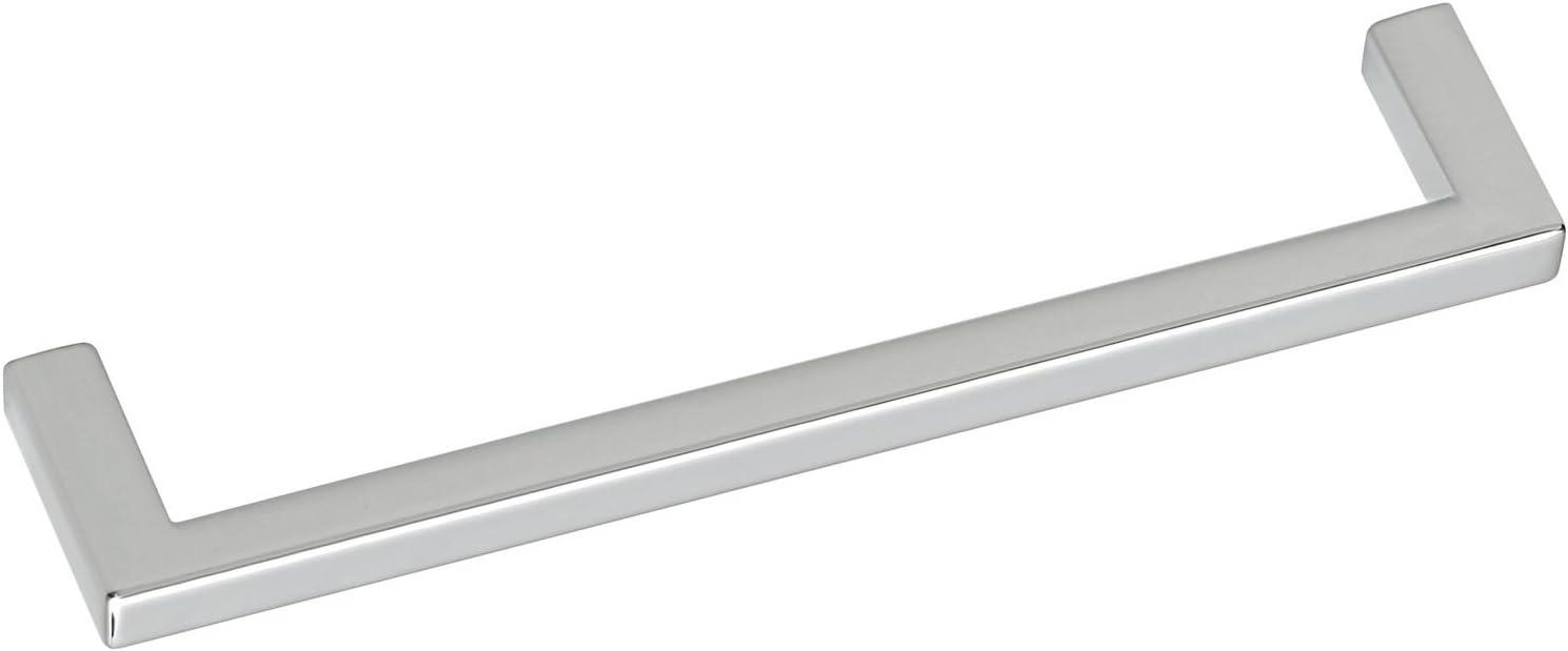 chrom/é poli Siro Poign/ée Macha /écartement des trous 128/mm 2108 136zn1 largeur 136/mm