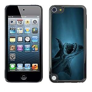 Be Good Phone Accessory // Dura Cáscara cubierta Protectora Caso Carcasa Funda de Protección para Apple iPod Touch 5 // akula shark ryba fish