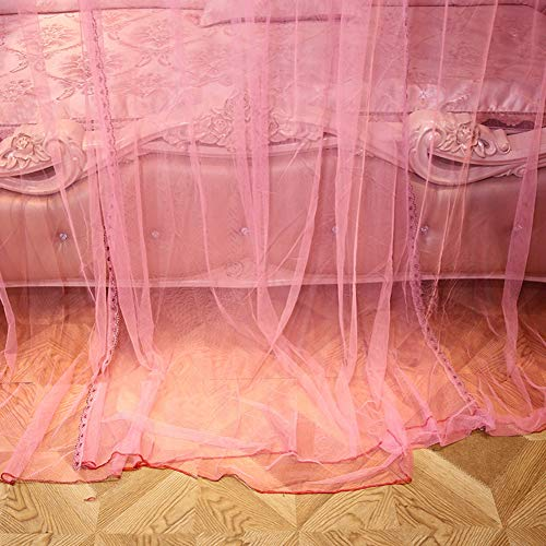 KE & LE Four Corner Post Tent Mesh Canopy Curtains with Bottom, Mosquito Tent Mosquito Bed Net Mosquito Net for Crib Hanging Mosquito Net-a W:180cmxh:200cmxd:200cm by KE & LE (Image #3)