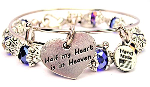 2-Piece-Set-Half-My-Heart-Is-in-Heaven-Sapphire-Blue-Bangle-Bracelet-Collection