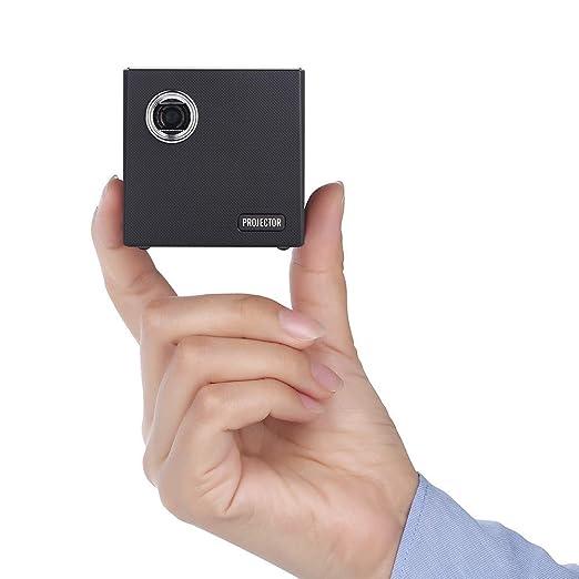 YJF-TYY Mini proyector 4K con la batería, resolución Full HD ...
