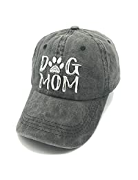 Waldeal Embroidered Women Dog Mom Denim Dad Hats Dogs Paw Jeans Baseball Cap