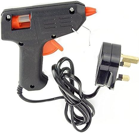 Pistola de pegamento termofusible grande de 11 mm + 2 varillas de 40 W para manualidades y bricolaje eléctrico