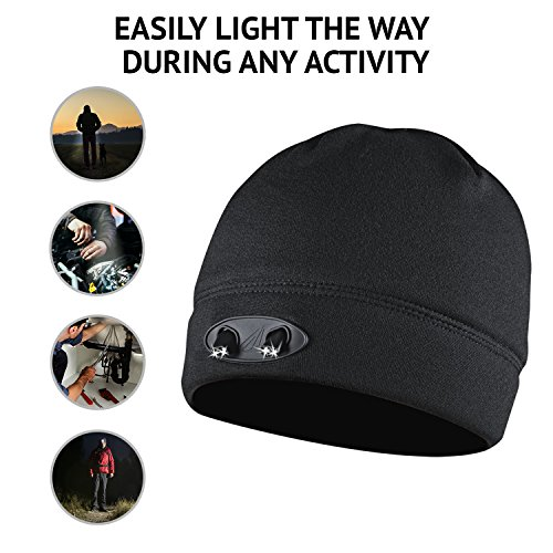 Panther Vision  CUBWB-4553 Hand Free 4 LED Headlamp Beanie Cap, ( Black)