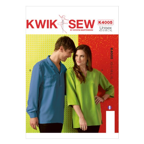 KWIK-SEW Men and Women Loose Long Sleeve Shirt Sewing Pattern K4005OSZ, All Sizes by KWIK-SEW PATTERNS