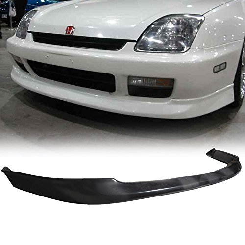 Front Bumper Lip Fits 1997-2001 Honda Prelude | Factory Optional Style PU Black Front Lip Spoiler Splitter Air Dam Chin Diffuser Add On by IKON MOTORSPORTS | 1998 1999 2000