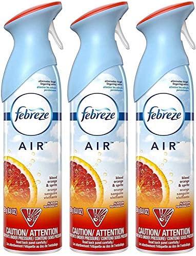 Febreze Air - Air Freshener Spray - Blood Orange & Spritz - Net Wt. 8.8 OZ (250 g) Per Bottle - Pack of 3 Bottles