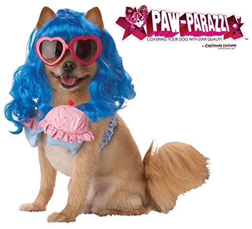 Pup-A-Razzi Cupcake Girl Girl Dog Costume, Medium, Blue/Pink -