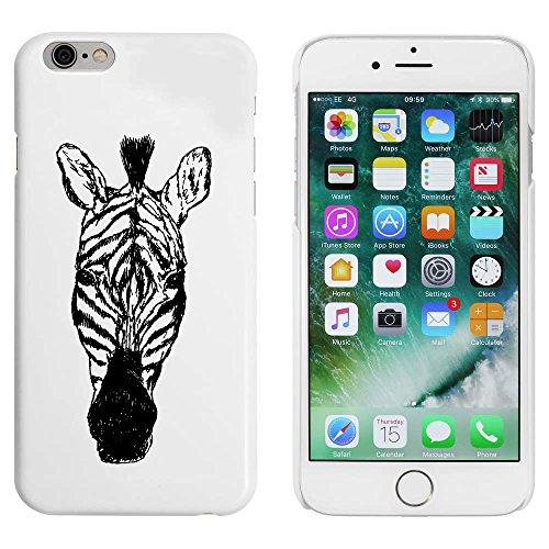 Weiß 'Zebra Kopf' Hülle für iPhone 6 u. 6s (MC00053014)