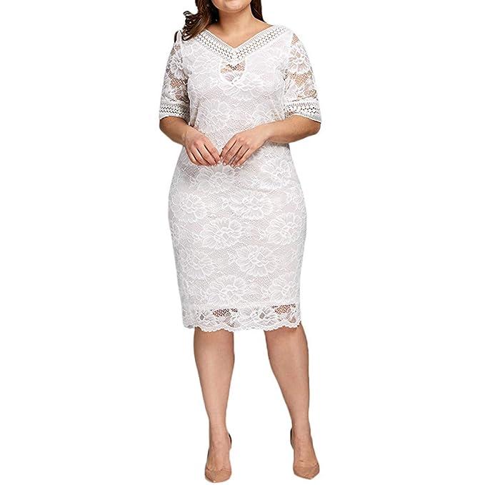 Amazon.com: Women\'s Scooped Neckline Floral lace Top Plus Size ...