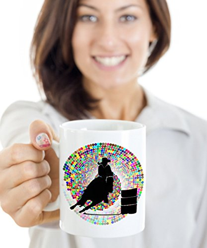 Barrel Racer Spurs (Barrel Racer Mug - Rodeo Gal - Novelty Horse Mug)
