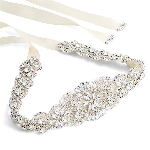 - Crystal Belt Rhinestone Belt Sash Bridal Crystal Rhinestone Braided Wedding Dress Sash Belt