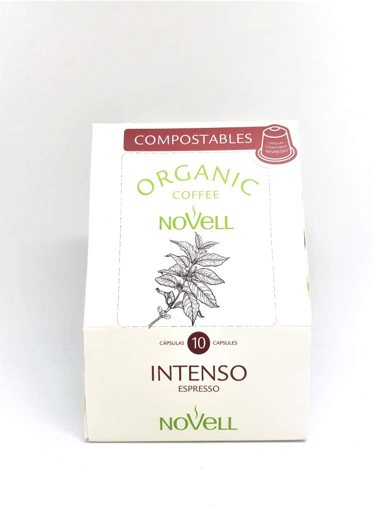 Novell Intenso Espresso – 100 aluminiumfreie & kompostierbare Bio-Kaffeekapseln, Nespresso® kompatibel