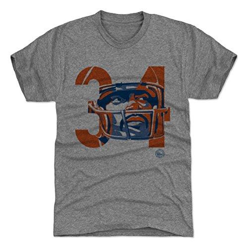 34 Walter Payton Jersey (500 LEVEL's Walter Payton Premium Shirt L Tri Gray - Walter Payton Tribute 34 - Vintage Chicago Football Fan Gear)