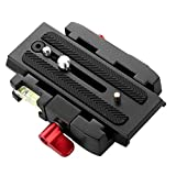 Black Camera Quick Release Clamp Adapter Mount + Quick Release Plate P200 Compatible for Manfrotto 501 500AH 701HDV 503HDV Q5