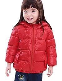 SLUBY Little Kids Puffer Jacket Cozy Down Coat with Hood for Girls Boys 2T-6Y