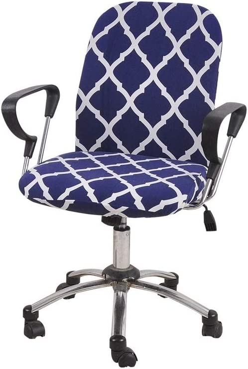 Iseedy Split Type Elastic Chair Cover Chair Cover Office Armrest Swivel Chair Back Cover (Blue)