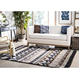Cheap Safavieh Tahoe Collection TAH475A Beige and Grey Area Rug (5'1″ x 7'6″)