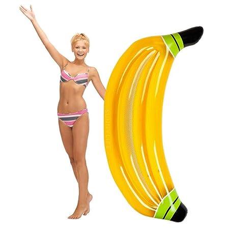 LIBOYUJU Flotador Inflable Plátano Inflable con Flotador ...