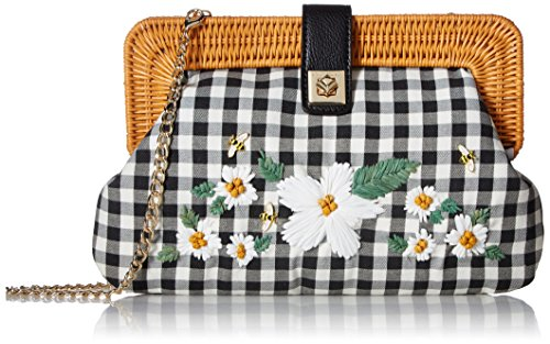 - Betsey Johnson DAISY'D & Confused Flower Clutch Crossbody, Black