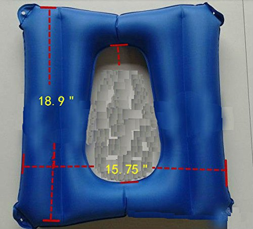 Inflatable Cushions, Elderly Cushion Anti-Bedsore, Breathable and Comfort Cushion for Wheel Chair Patients Ease Soreness, Hip Support, Leg Support, Back Support,Relieve Pressure (Blue) by HAYU