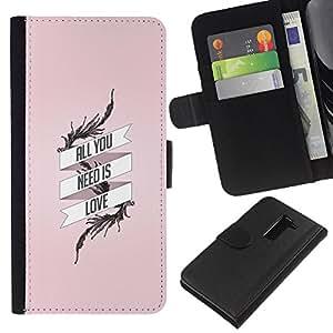 BearCase / Cuero de la tarjeta la carpeta del tirón Smartphone Slots Protección Holder /// LG G2 D800 /// Todo lo que necesitas es amor