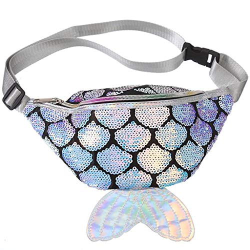 Tail Bra - LUXISDE Fashion Women Sequins Colorful Mermaid Tail Crossbody Bag Messenger Chest Bag