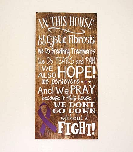CELYCASY in This House We Do Cystic Fibrosis Wooden Sign, Cystic Fibrosis Sign, Cystic Fibrosis House Rules Sign, Cystic Fibrosis Gift. CF Awareness