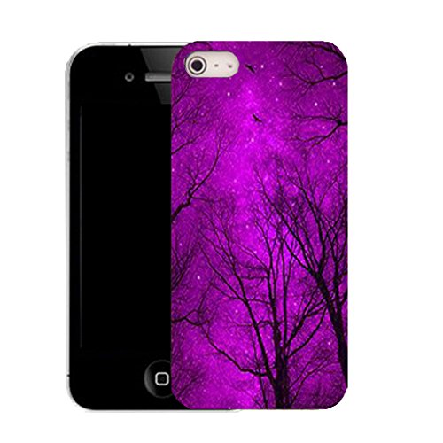 Mobile Case Mate IPhone 4 4S clip on Dur Coque couverture case cover avec Stylet - midnight forrest Motif