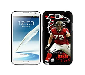 WOWCASE Atlanta Falcons Sam Baker NFL Rugged Case for Samsung Galaxy Note 2 Sport Fans Samsung Note 2 case-Christmas Gift