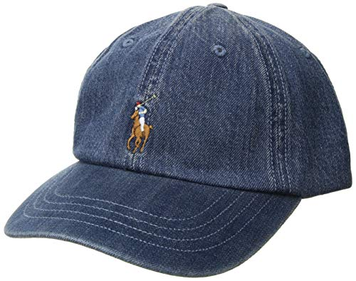 cd4e98fef7e Galleon - Men s Polo By Ralph Lauren Hat Ball Cap Black With Red Pony