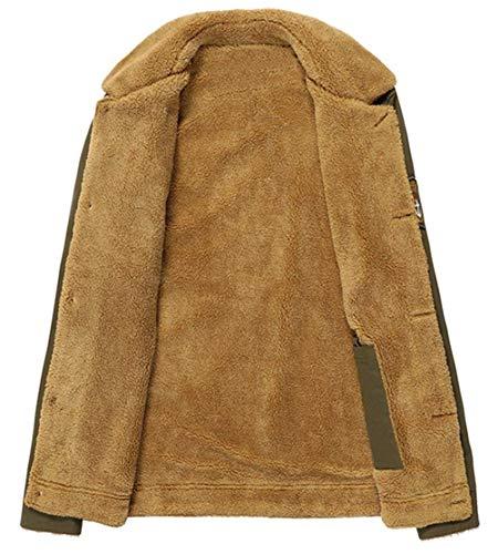A A Uomo Uomo Uomo Plus Da Caldo Monopetto marca Capispalla Spessa Maniche di Cappotto Giacche Mode Esterno Grün In BOLAWOO Lunghe Velluto Rivetto Cappotto xXwPI