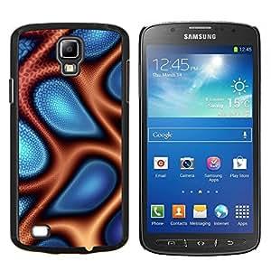 LECELL--Funda protectora / Cubierta / Piel For Samsung Galaxy S4 Active i9295 -- Extracto azul y naranja --