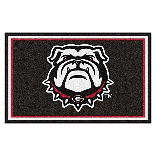 - NCAA University of Georgia Bulldogs 4 x 6 Foot Plush Non-Skid Area Rug