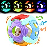 #6: Baby Ball,Can Flashing Light and Sounds,Bendy Ball,Food Grade Safety Soft Material With Gift Box,Yeonhatoys Great Toy For Baby Toddler Kids,Teething Toy Durable Grasp Toy