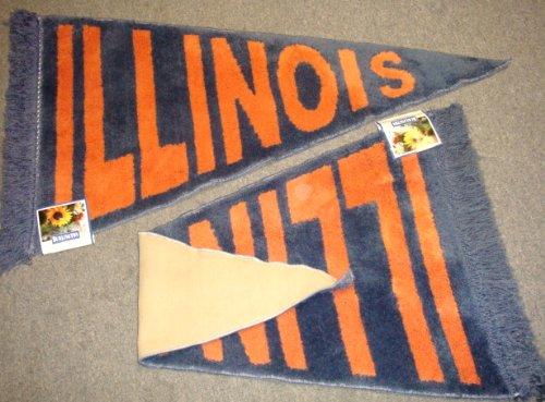 University of Illinois UIUC Plush Pennant Area Rug / Floor Mat